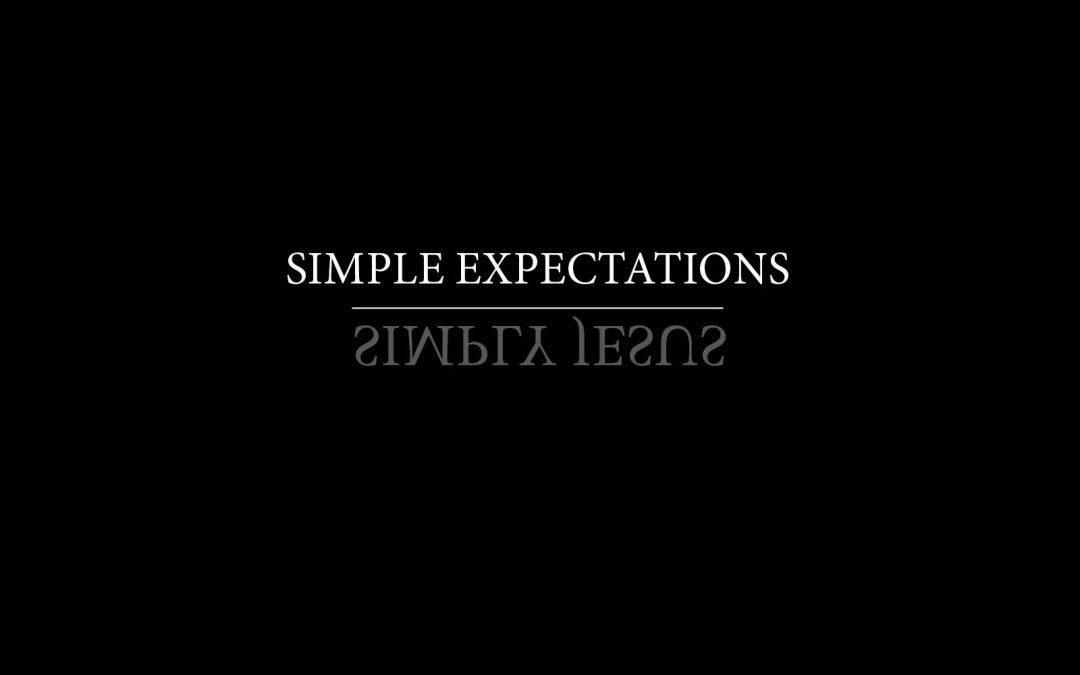 03/03/2019 ROBERT VAN HARTEN / SIMPLY JESUS: SIMPLE EXPECTATIONS